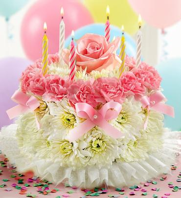 Birthday Flower Cake Pastel