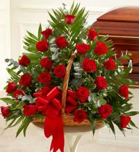 Red Rose Fireside Basket