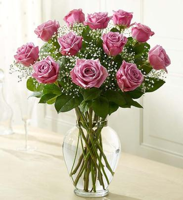 "Rose Eleganceâ""¢ Premium Long Stem Roses - Purple"