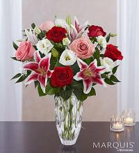 Marquis by Waterford Blushing Rose & Lily Bouquet