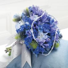 Blue Wedding Flowers-Brides Maid