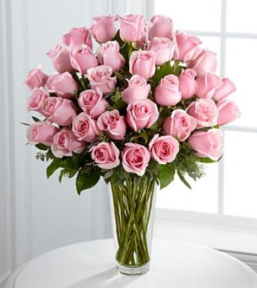 Long Stem Pink Rose Bouquet