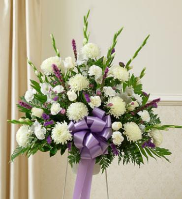Lavender and White Sympathy Basket