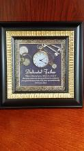 Table top clock -Dedicated Father